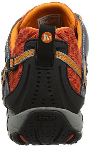 Merrell Waterpro Maipo, Scarpe da Arrampicata Uomo Multicolore (Dark Grey/Spicy Orange)