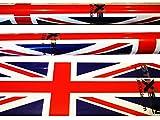 Stixskin 'Union Jack' 2décoratifs en vinyle Wraps pour marche nordique, randonnée, Trekking, ski et personnalisées, Aid bâton de marche | Designs pour hommes, femmes et enfants | Leki, Exel, Gabel, Fizan, Swix |