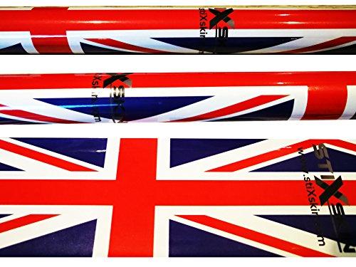 Stixskin 'Union Jack' 2 décoratifs en vinyle Wraps pour marche nordique, randonnée, Trekking, ski et personnalisées, Aid bâton de marche | Designs pour hommes, femmes et enfants | Leki, Exel, Gabel, Fizan, Swix |