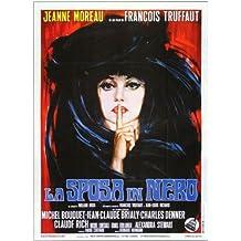 The Bride Wore Black Póster de película italiana B 11x 17en–28cm x 44cm Jeanne Moreau Claude Rich Jean-Claude Brialy Michel ramo Michael (Michel) Lonsdale Charles Denner