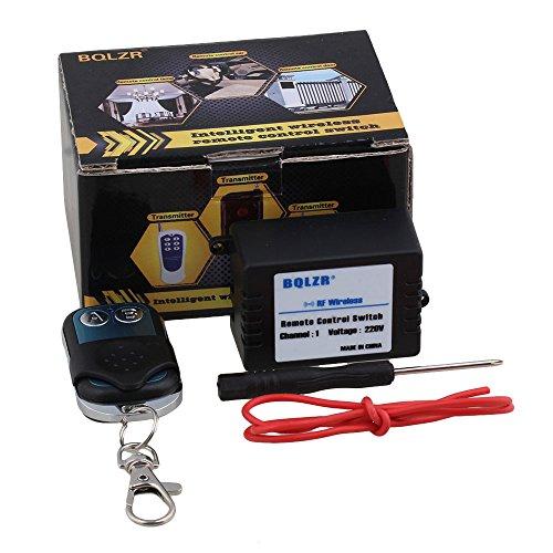 BQLZR 433mhz AC220V 1canal inching/self-lock/interbloqueadas interruptor de control remoto inalámbrico receptor y transmisor de metal AB botones w/destornillador herramienta