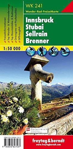 Innsbruck Stubai 1:50.000: Wandel- en fietskaart 1:50 000: Innsbruck, Stubai, Sellrain, Brenner (Wander Karte)