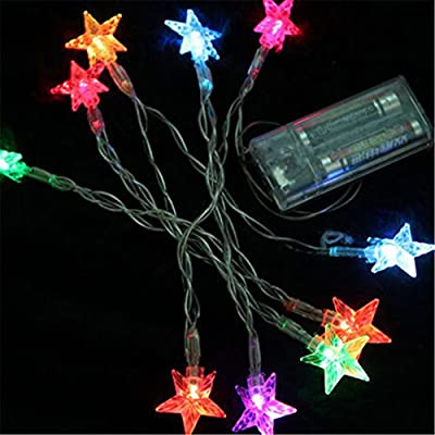 Fairy Lights Stars Battery Operated String Lights SHHE 5M 40 LED Decorative Lighting for Home Wedding Birthday Indoor Outdoor Use