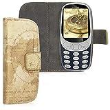 kwmobile Nokia 3310 3G 2017 / 4G 2018 Hülle - Kunstleder Wallet Case für Nokia 3310 3G 2017 / 4G 2018 mit Kartenfächern und Stand