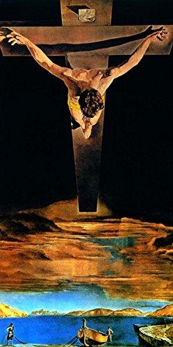 Salvador Dalì de El Cristo de la cruz de San Giovanni Póster en papel de grosor y gr. 300 modelo 34085 cm.50 x 100 mignecoandsmith.com