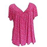 ✿✿JiaMeng Damen Baggy t-Shirt Mode Gemütlich Rüschen Tops Sport Fitnesss blusen weich lässig Blumen Oberteile für mollige