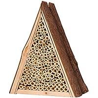 Gardigo Bienenhaus   Nisthilfe für Bienen aus Holz   Insektenhotel   Zum Aufhängen   Bienenhotel aus Naturmaterialien   Deutscher Hersteller