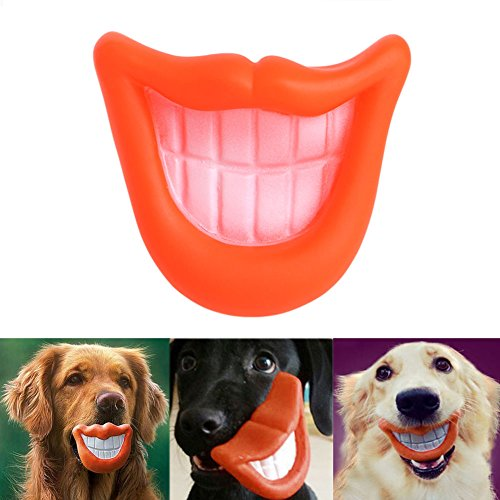 Dairyshop Funny Puppy Dog Toys Big Red Lip Gummi mit quietschelement