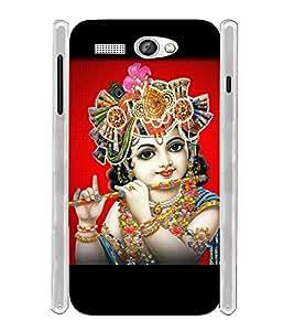 Lord Sri Krishna Mohana Soft Silicon Rubberized Back Case Cover for Lava Flair P1