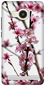 The Racoon Lean pink flower bough hard plastic printed back case / cover for Vivo X Shot