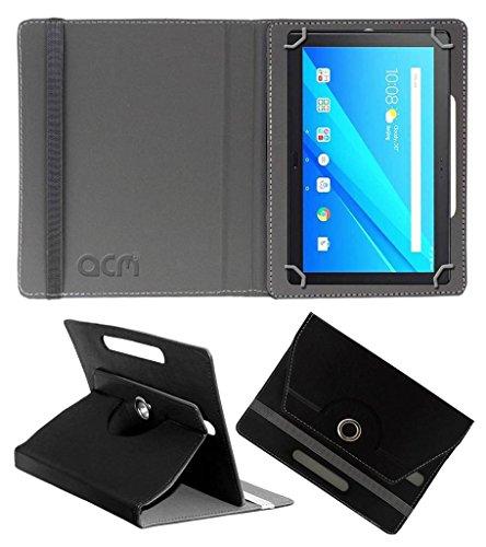 ACM Rotating Leather Flip Case for Lenovo Tablet 4/ 10 Plus (Black)