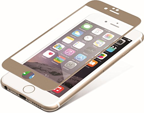 invisibleSHIELD Glass Luxe Full Screen für iPhone 6, gold Iphone Screen Overlay