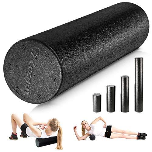REEHUT Fitness Rodillo de Espuma- para Masaje Muscular, Pilates Masaje y Rodillo de Espuma Fitness y Yoga, Libro de Ejercicios Gratuito Incluido (Tamaño 90cm)