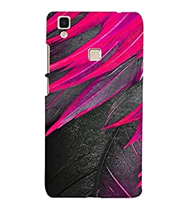 PrintVisa Feather Design 3D Hard Polycarbonate Designer Back Case Cover for Vivo V3