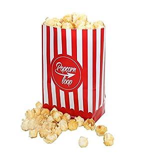 popcornloop Die Original Popcorntüten 10 x 6er Packungen Insgesamt 60 Stück Material Aus Papier Heimkino Erlebnis