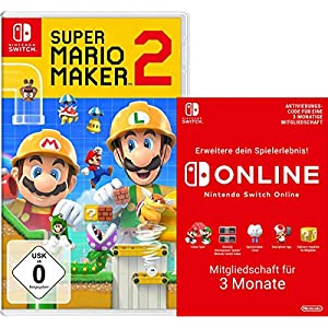 Super Mario Maker 2 [Nintendo Switch] + Switch Online 3 Monate [Download Code]