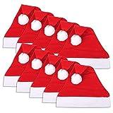 Schramm Onlinehandel S/o Pack de 10 Gorros de Navidad,30x 30cm, de Papá Noel