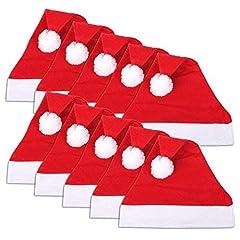 Idea Regalo - Confezione da 20 berretti di Babbo Natale, 30 x 40 cm
