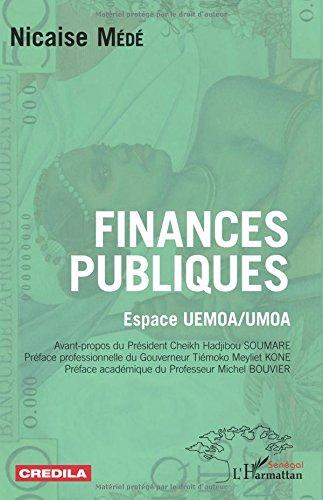 Finances publiques: Espace UEMOA / UMOA par Nicaise Médé