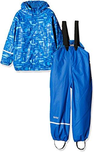 CareTec Kinder Wasserdichte Regenlatzhose und -Jacke im Set, Blau (Dunkel Blau 773), 104