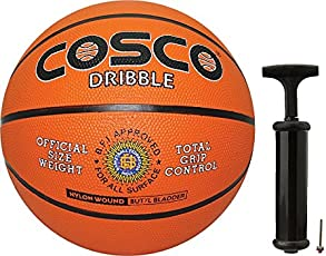 Cosco Dribble Basketball with Hand Pump- Size 7