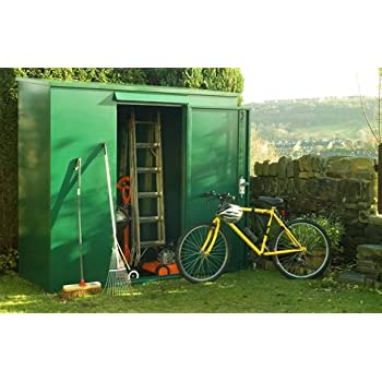 tall metal garden shed 7 x 3 ft supplied flat pack secure outdoor