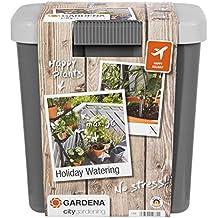 GARDENA 1266-20 city gardening Urlaubsbewässerung, bedarfsgerechte Pflanzenbewässerung über drei Verteiler mit unterschiedlichen Wasserabgabemengen, täglich wird 1 Minute vollautomatisch bewässert - mit 9 Liter Vorratsbehälter.