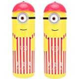 Minoon Shape Pencil Box Having Sketch Pen/Stationary Kit - 12 Pens | Birthday Party Return Gift For Kids - Available In Random Colors / Sketch Pens Set In Minions Shaped Box For Kids Birthday Party Return Gift Minions Shape Pencil Box With Stationary Kit,