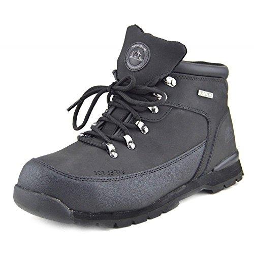 Herren Komfort Arbeit Sicherheit Stiefel Stahl Toe Cap Wasserdichtes Fundament - UK 7 / EU 41, SCHWARZ - GR77 (Steel Toe Wasserdicht Arbeit Stiefel)