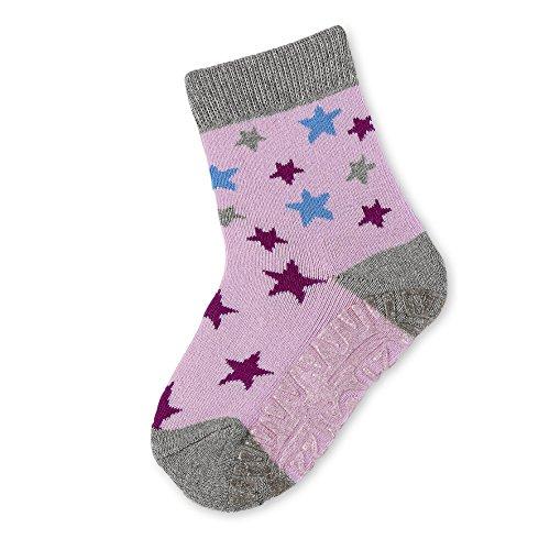 Sterntaler Baby-Mädchen Socken Fli Fli Air Sterne, Grau (Silber Melange 542), 20