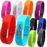 #4: JVM Kids Favorite Birthday Return Gift Unisex Silicone Jelly Slim Digital Led Bracelet Band Watch for Boys & Girls (Set of 12)
