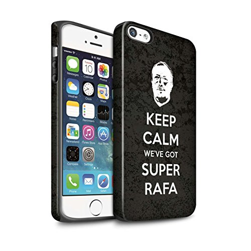 Offiziell Newcastle United FC Hülle / Matte Harten Stoßfest Case für Apple iPhone SE / Pack 8pcs Muster / NUFC Rafa Benítez Kollektion Ruhig Bleiben
