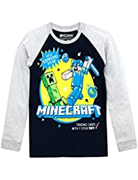 Boys' Clothing (2-16 Years) New Minecraft Boys T-shirt Top Age 5-13 Yrs White Blue Character Gaming Primark Clothes, Shoes & Accessories