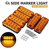 Gelb VIGORFLYRUN PARTS LTD 4X LED Seitenmarkierungslampe Indikatoren Lichter f/ür 12V 24V LKW Anh/änger Bus Van Parkleuchten RV Bus Auto Seitenblinker