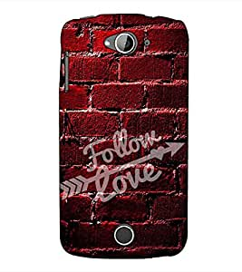 Fuson Designer Back Case Cover for Acer Liquid Z530 :: Acer Liquid Zade Z530S (Follow love theme)