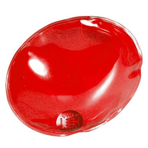 eBuyGB Pack de 4 Bolsas de Gel para Calentar Las Manos de Gel, instantáneas, Reutilizables, Hombre, Color Red Oval, tamaño Talla única