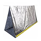 Emergency Shelter Tube Tents,2 Person All Weather Tube Tent,Reflective Material Conserves Heat,Lightweight,Waterproof Must-Have Outdoor Safety & Survival Gear for your Hiking,Camping (Tent-X1)