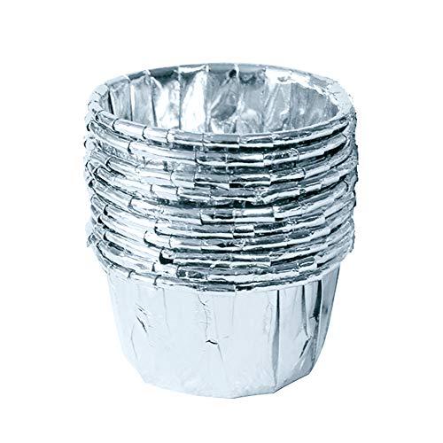 apierförmchen für Cupcakes, Muffins, für Hochzeit, Geburtstag, Party, 10 Stück One Size Silber ()