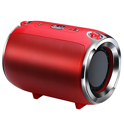 LRWEY Bluetooth Lautsprecher Tragbarer Mini Wireless Heavy Subwoofer Player Musik Sound für iPhone, Samsung usw.