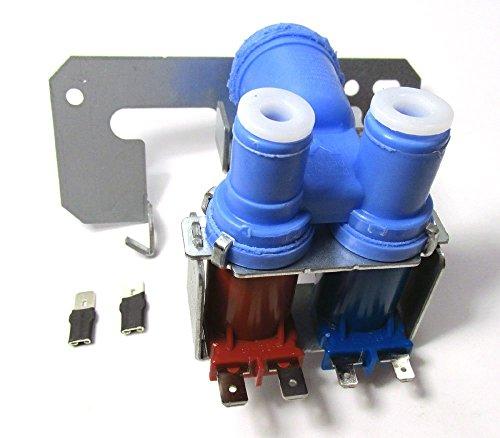 Ge Kühlschrank Wasserspender (WR57X 0111-Kühlschrank doppelte Magnetventil Wasser Einlassventil für frigs mit Ice Maker und Wasser Spender für GE Modelle)