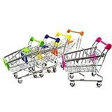 Generic Mini Supermarkt Schubkarre Einkaufswagen 12 x 8,5 x 11 cm zur Deko und Aufbewahrung - Himmel Blau