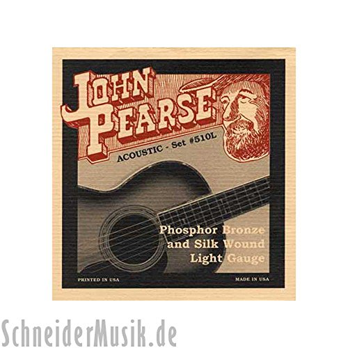 JOHN PEARSE 510L ACOUSTIC PHOSPHOR BRONZE AND SILK WOUND  LIGHT