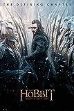 The Hobbit - BOTFA - Bard - Schlacht der 5 Heere Plakat Poster Druck - Größe 61x91,5 cm + 2 St Posterleisten Holz 61 cm