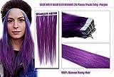 Romantic Angels Remy Tape In Extensions Echthaar 45cm Haarverlaengerung 20 Tressen x 4cm Farbe Lila