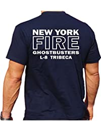 T-Shirt navy, Ghostbusters NYC Ladder 8 - Tribeca Manhattan