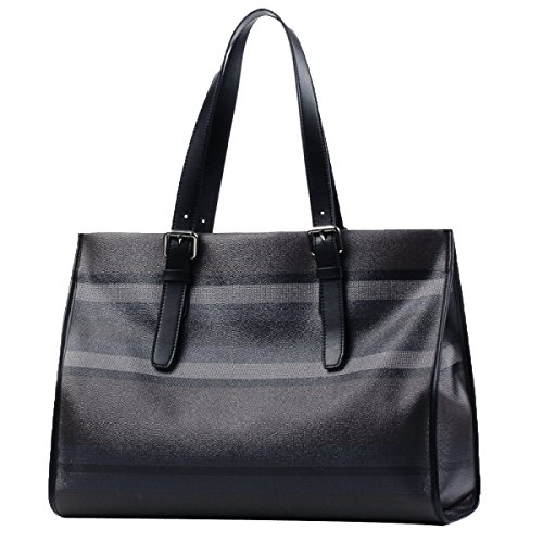 Freizeithandtasche Männer Streifen Business Aktentasche Oxford Fashion Canvas Tasche,Grey-L
