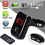 Bluetooth FM Transmitter Von Colorful ,Bluetooth Wireless FM Transmitter MP3-Player Freisprecheinrichtung Auto Kit USB TF SD Remote