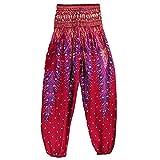 YWLINK Damen Kleidung,MäNner Frauen Thai Harem Hosen Boho Festival Hippie Kittel Hohe Taille Yoga Hosen