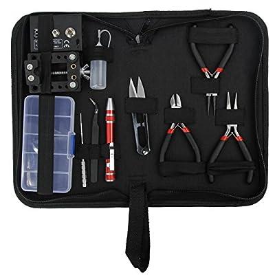 (11PCS Set) Electronic Cigarette DIY Coil Jig Winding Tool Kit for RBA RDA RTA E-Shisha E-Cigarette Vape [Nicotine Free] by Discoball® from Discoball