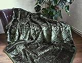 XXL Luxus Kuscheldecke Tagesdecke Decke smaragd - grün 200x240cm